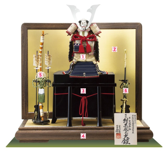 五月人形 鎧兜平台飾りの飾り方