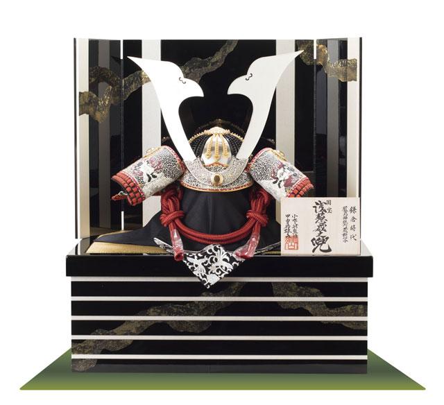 五月人形・国宝模写兜収納飾りの人気商品 国宝【浅葱綾威】兜 三分の二模写