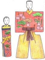 紙立雛 紙雛 江戸時代に作られた