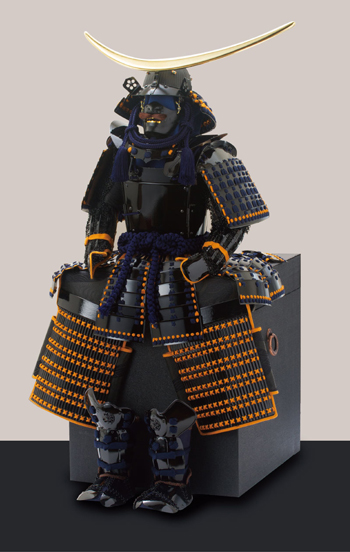 五月人形・仙台市博物館所蔵 伊達政宗 重要文化財 黒漆五枚胴具足模写具足