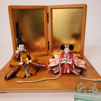 雛人形・親王飾りカタログ写真撮影の風景