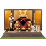 国宝 赤糸威『竹に虎雀大鎧』 奈良 春日大社所蔵 鎌倉時代末期 模写平台兜飾りセット
