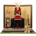 国宝 赤糸威『竹に虎雀大鎧』 奈良 春日大社所蔵 鎌倉時代末期 模写平台鎧飾りセット