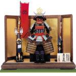 戦国武将・直江兼続公 上杉神社蔵 浅葱縅二枚胴具足模写 鎧飾り