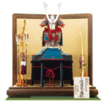国宝・浅葱綾威大鎧 広島 厳島神社所蔵 鎌倉時代 模写平台鎧飾りセット
